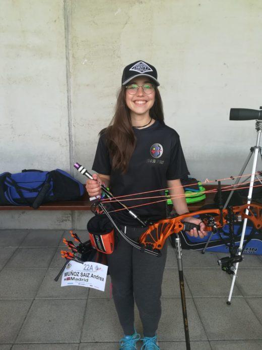 andrea munoz segundo puesto liga cadete